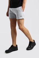 boohoo Mens Grey Original MAN Short Length Jersey Shorts, Grey