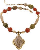 Barse BIJOUX BAR Art Smith by Multi-Stone Brass Pendant Necklace