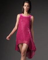 Beaded Godet Dress