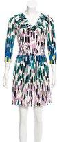 Tibi Long Sleeve Brush Stroke Dress