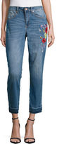 Highline Collective Skyler Embroidered Ex Boyfriend Jeans