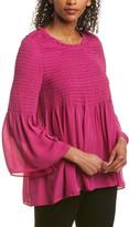 Nicole Miller Artelier Silk-Blend Blouse