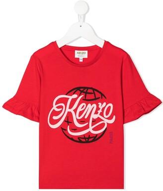 Kenzo Kids logo-print T-shirt