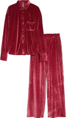 Free People Kit Kat Velour Set