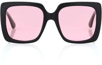 Gucci Crystal-embellished square sunglasses