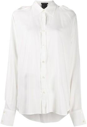 Ann Demeulemeester Cut-Out Buttoned Shirt