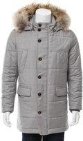 Eleventy Wool Fox Fur-Trimmed Coat