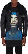 Vetements Men's Leather Aviator Jacket-BLACK