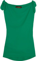 Vivienne Westwood Shore Bow-detailed Georgette Top - Green
