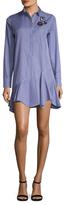 Christian Dior Cotton Checkered Asymmetrical Shift Dress