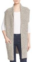 Brochu Walker 'Noah' Longline Cashmere Vest