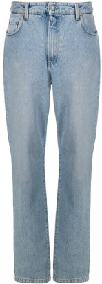 Moschino Dungaree Straight-Leg Jeans