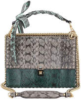 Fendi Kan I Regular Snakeskin and Calf Shoulder Bag