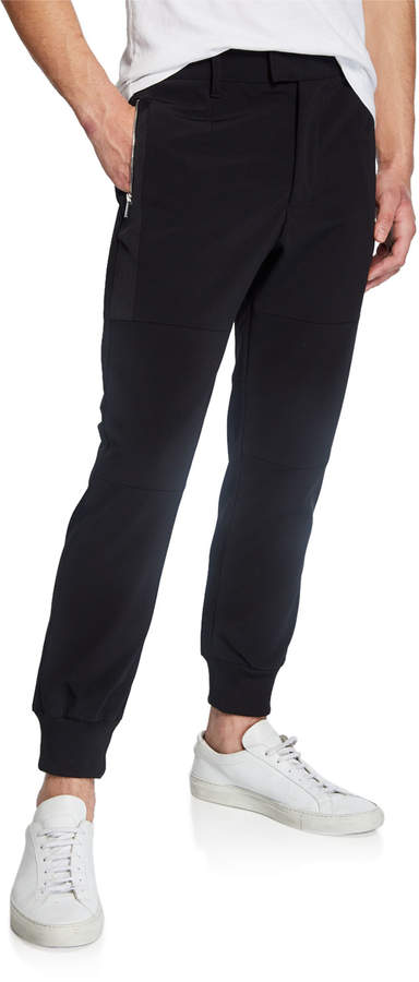 Karl Lagerfeld Paris Men's Zipper Pocket Jogger Pants