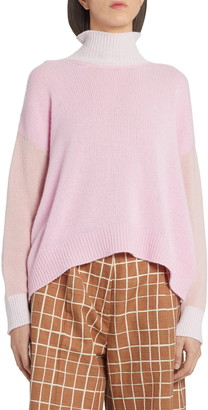 Marni Colorblock Cashmere Turtleneck Sweater