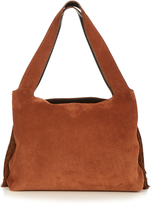 The Row Duplex fringed-sides suede bag