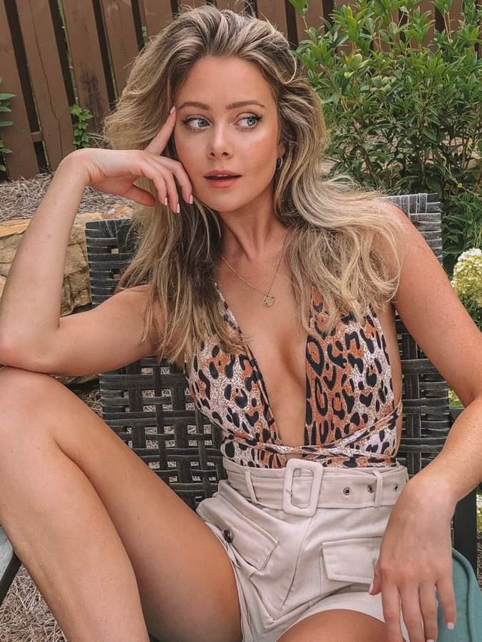 Shein Leopard Plunging Backless One Piece Swimwear