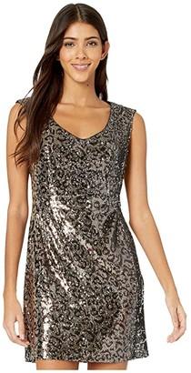 Nanette Lepore Leo Sequin Dress (Leopard Multi) Women's Clothing