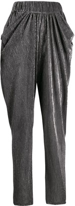 IRO draped lurex trousers