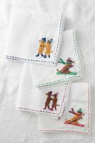 Anthropologie Stitched Dachshund Napkin Set