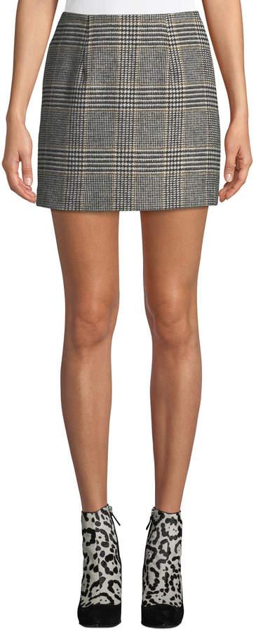 fbb2c7833 Wool-blend Plaid Skirt - ShopStyle