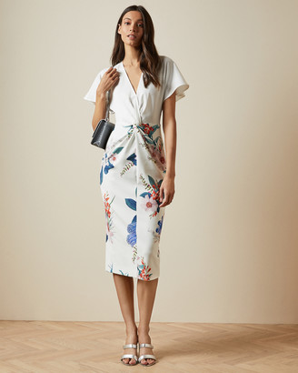 Ted Baker NERRIS Jamboree twist detail midi dress