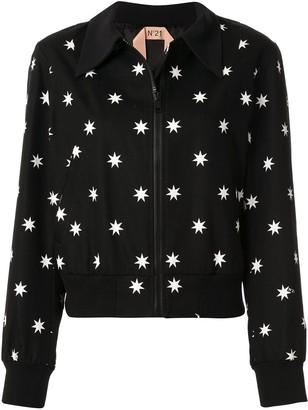 No.21 Star Print Bomber Jacket