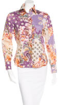 Etro Floral-Print Button-Up Top