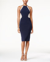 Xscape Evenings Embellished Illusion Mesh Halter Gown