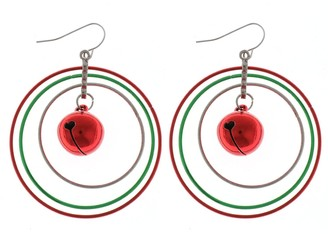 Holiday Layered Hoop Earrings with Bell