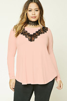 Forever 21 FOREVER 21+ Plus Size Eyelash Lace Top
