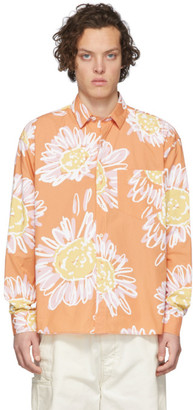 Jacquemus Orange La Chemise Simon Shirt