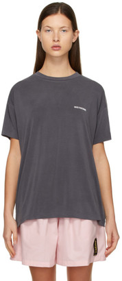 we11done Grey Jersey Oversized T-Shirt