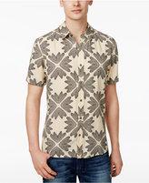 GUESS Men's Wing Geo-Print Cotton Shirt