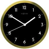 Nextime Arabic Wall Clock, Gold/Black, 44cm