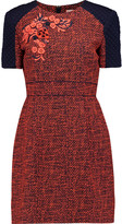 Matthew Williamson Embroidered tweed mini dress