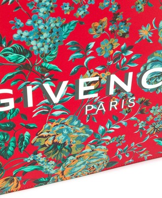 Givenchy Multicolored Tropical Flower Print Pouch