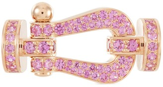 Fred 'Force 10' rose gold sapphire large buckle