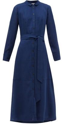Cefinn Belted Voile Shirtdress - Blue