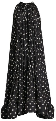 Lanvin Polka-Dot Print Logo Dress