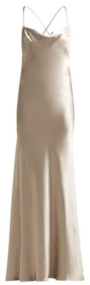 Galvan Whiteley Silk-satin Gown - Silver