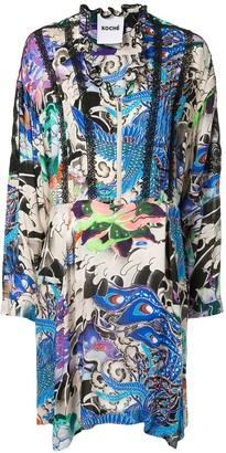 Koché Phoenix print dress