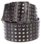 Alaia Leather Grommet Belt