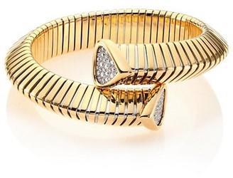 MARINA B Trisola Diamond & 18K Yellow Gold Coil Bracelet