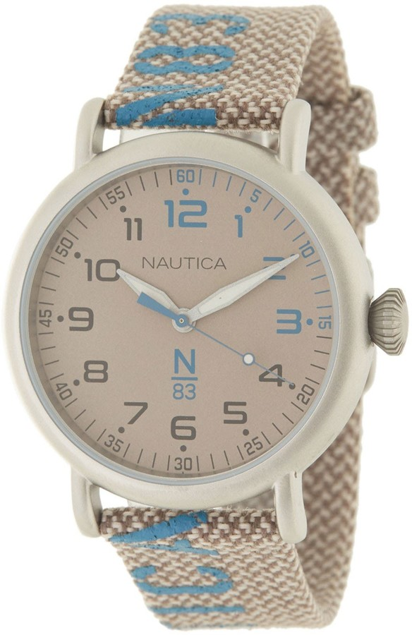Nautica Men's Brown Dial Fabric Watch, 40mm