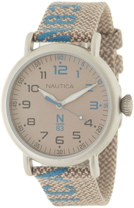 Nautica Men's Brown Dial Fabric Watch, 40mm