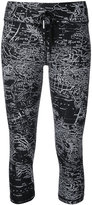 The Upside maps print fitness capris