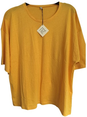 Base Range Yellow Cotton Top for Women