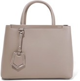 Fendi 2jours Small Leather Shopper - Beige