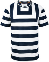 Paul Smith striped panel T-shirt